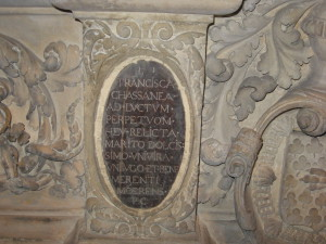 Inscriptions du tombeau de Montaigne