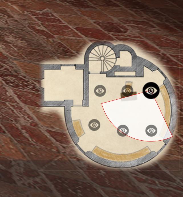 Restitution 3D de la « librairie » de Montaigne au XVI<sup>e</sup> siècle - Plan pour la navigation