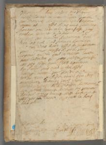 Léonor de Montaigne, Lettre à Monsieur de Flexelles (Fleccelles), dans : Théologie naturelle, Rouen, R. de Beauvais, 1603 (c) Harvard University, Houghton Librar
