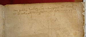 Note manuscrite sur feuillet de garde - (c) Paris, BNF - Photo AL-BVH