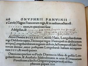 PanvinioRomanorum: note de Pithou p. 108