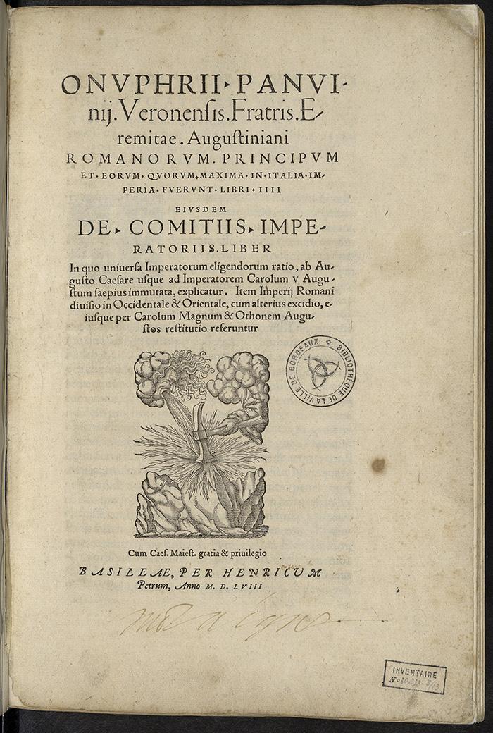 Panvinio ; Romani principes, suivi de De comitiis imperatoriis,