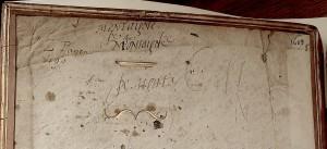 Plutarque2: BnF: essais de plume: photo AL-BVH