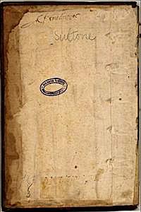 Suétone1: Bm Lyon: garde avec signature: Bm Lyon catalogue en ligne
