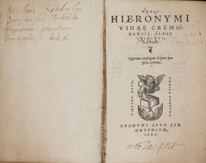 VIDA Marco Girolamo, Opera, Lyon, S. Gryphe, 1541.