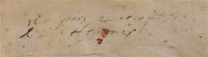 Détail. Couvrure du « mémorial » Ms 738, n° 3, f. 107r de la Bibliothèque de Bordeaux-Mériadeck