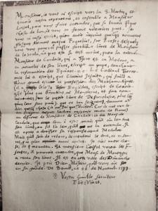 Lettre d'Elie Vinet