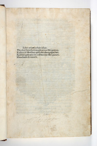 Feuillet a1 recto - (c) Chapin Library, Williams College