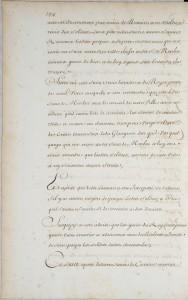 Copie manuscrite du XVIIIe siècle, BNF, Fr 22373, p.154.