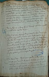 Arrêt du 7 juin 1579 recto, Archives départementales de la Gironde. Photo A. Legros.