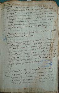 Arrêt du 7 juin 1579 recto, Archives départementales de la Gironde. Photo A. Legros.