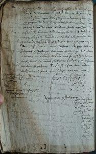 Arrêt du 7 juin 1579 verso, Archives départementales de la Gironde. Photo A. Legros.